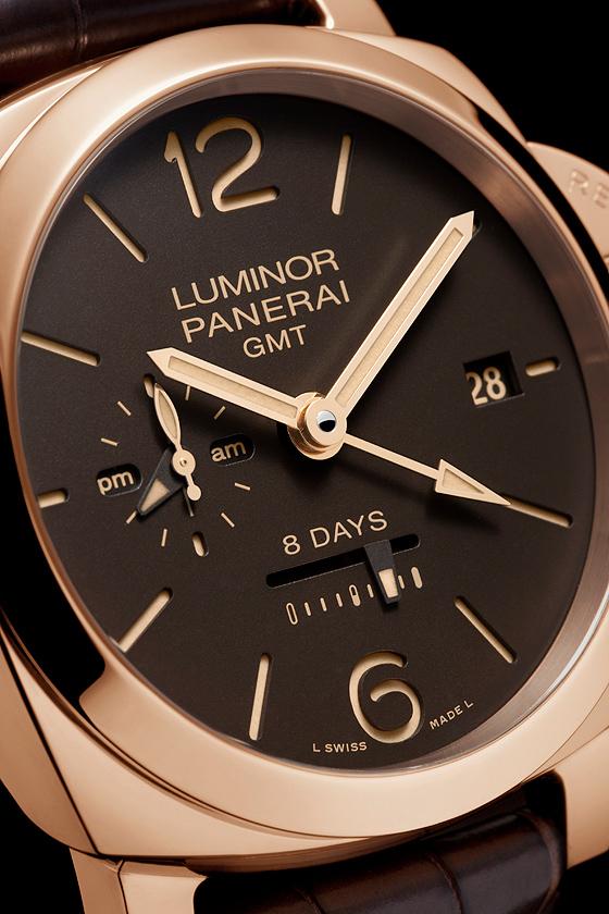Repliche Panerai Luminor 1950 8 Days GMT Oro Rosso