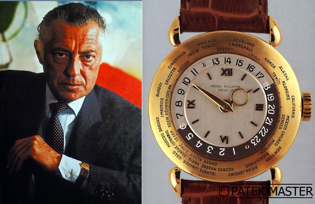 L'icona dell'industria italiana Gianni Agnelli con un Patek Philippe 1415HU
