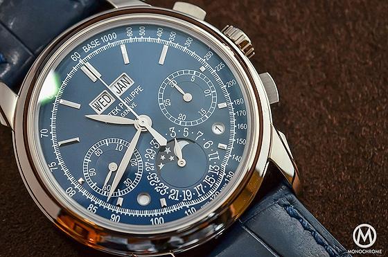 Prezzo basso Replica Orologi Patek Philippe Perpetual Calendar Chronograph 5270 Blu