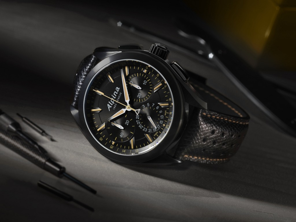 "Il ""Full Black"" Alpine 4 Manufacture Flyback Chronograph Orologi Replica"