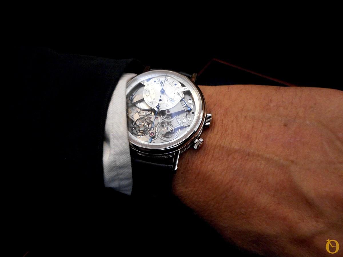Cronografo Breguet N 3091 Replica 7077 oro bianco al polso