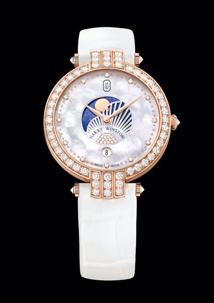 36mm svizzero Donne Harry Winston Premier Moon Phase Replica Orologi