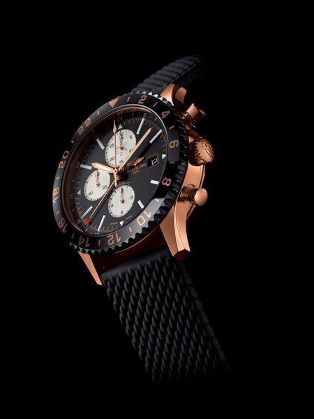 Alta qualità Breitling Chronoliner Rose Gold Replica Orologio In vendita