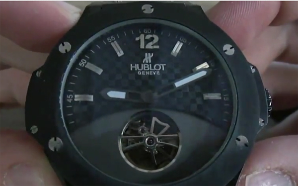 ceramica nera Replica Hublot Big Bang Tourbillon Orologi