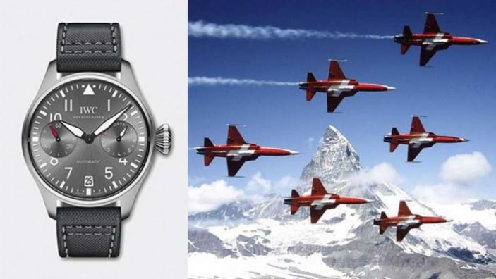 "Fabbricato in Svizzera IWC Big Pilot ""Patrouille Suisse"" Replica Orologio"