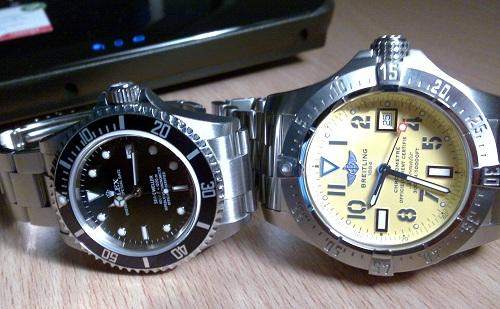 Fabbricato in Svizzera Falsi orologi Rolex vs Replica Breitling orologi