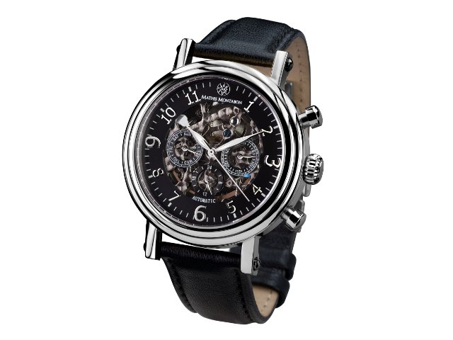 Mathis Montabon Executive Black Skeleton Dial Complicato Orologi